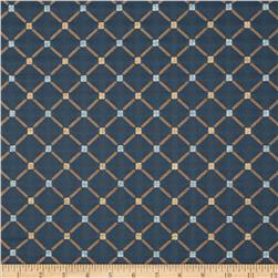 Jaclyn Smith Bassette Jacquard Cobalt Fabric