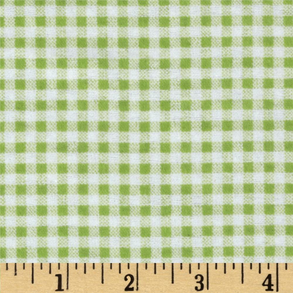 Camelot Flannel Gingham Lime