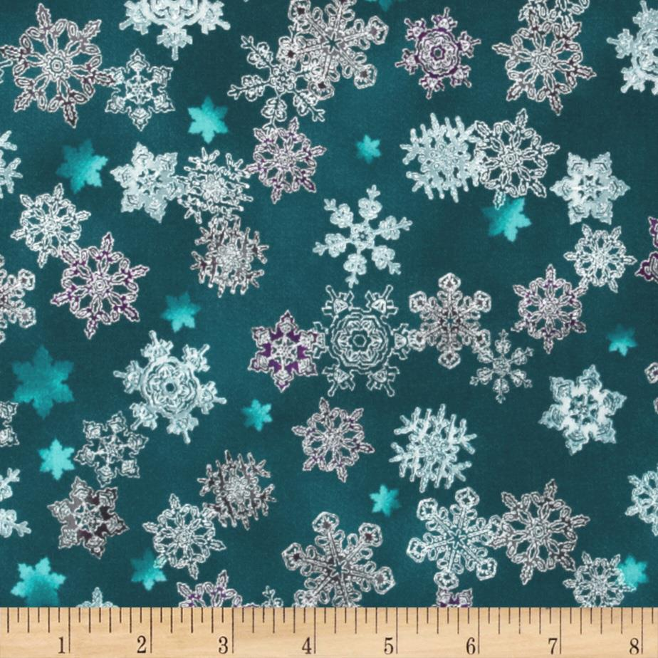 Winter's Grandeur Metallic Snowflake Winter