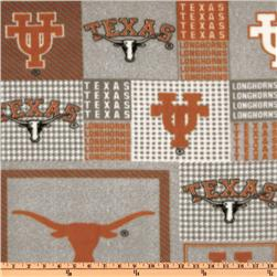 Collegiate Fleece University of Texas Plaid Blocks Orange/Gray