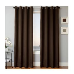 Sunbrella 96'' Solid Grommet Outdoor Panel Bay Brown