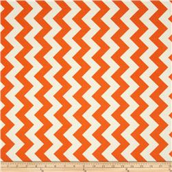 Riley Blake Le Creme Basics Chevron Orange/Cream Fabric