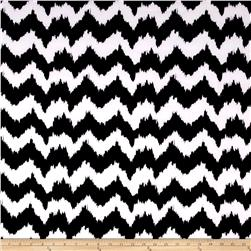 Techno Scuba Knit Abstract Chevron Black/White