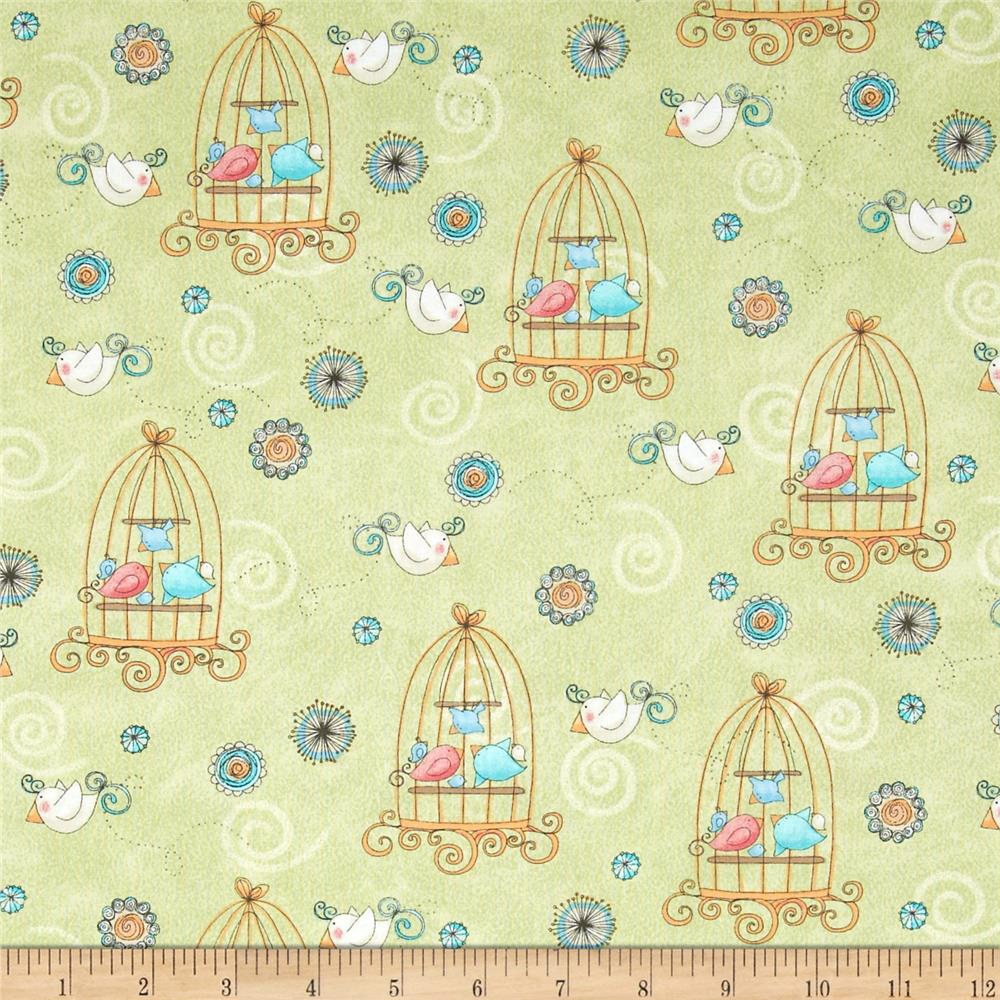 Bird Wise Birdcage Green