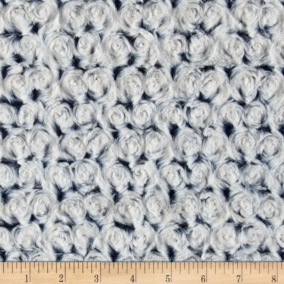 Minky Frosted Rose Cuddle Navy/Platinum