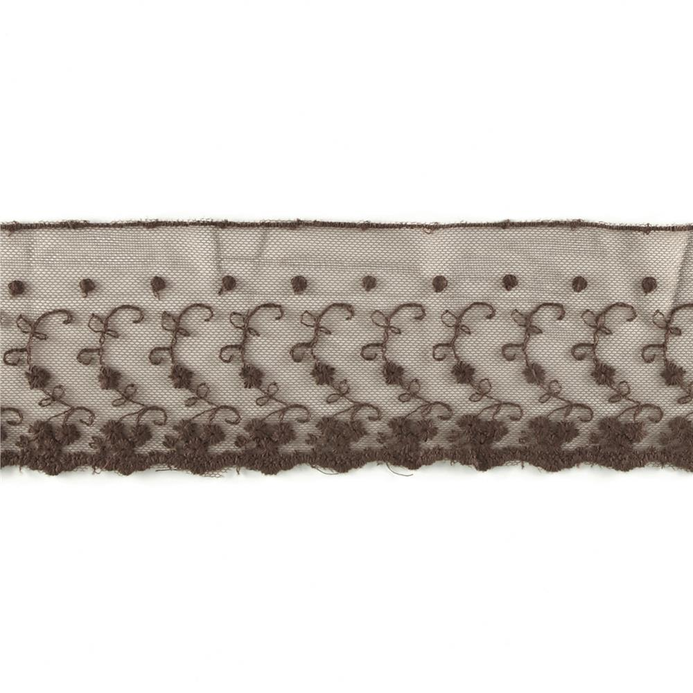 "Riley Blake 4"" Decorative Lace Brown"