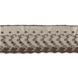 Riley Blake 4'' Decorative Lace Brown