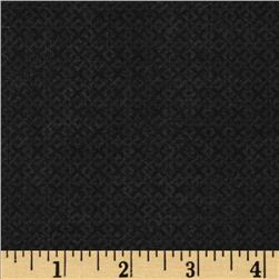 "108"" Essentials Criss Cross Quilt Backing Black"