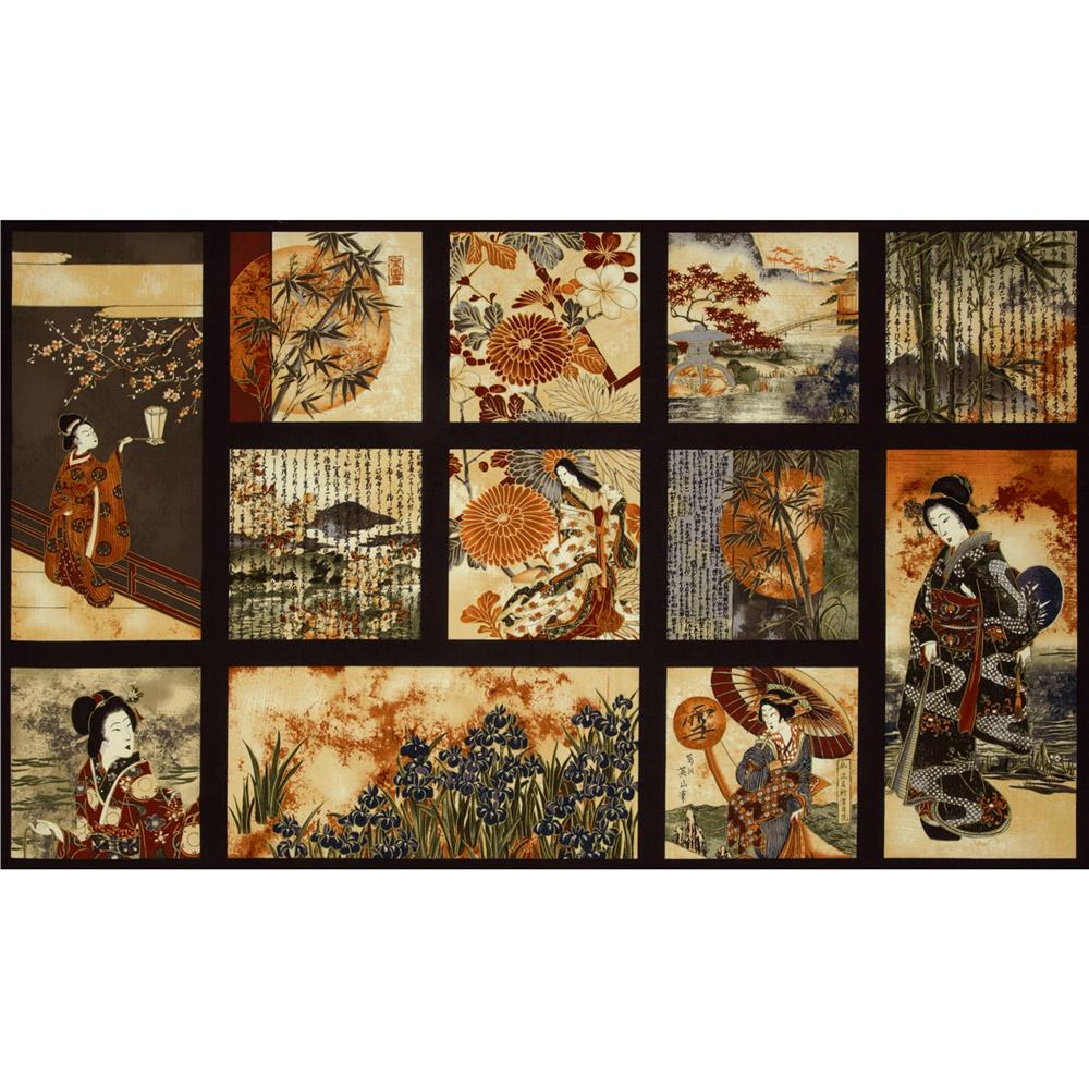 Oriental Traditions Block Panel Dawn Brown