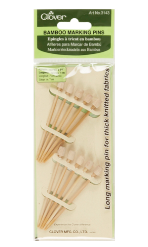 Image of Clover Bamboo Marking Pins 10/pkg