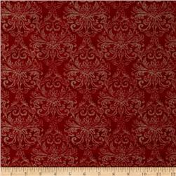 Country Touch Damask Red/Cream