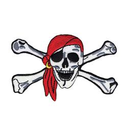 Wrights Iron On Applique Pirate Skull