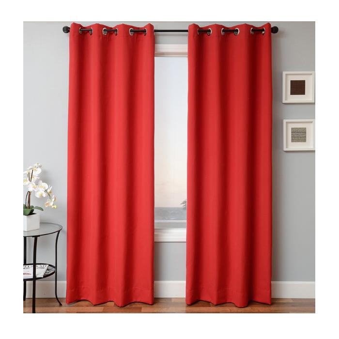 Sunbrella 96'' Solid Grommet Outdoor Panel Jockey Red