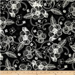 Illustrations 2 Floral Black