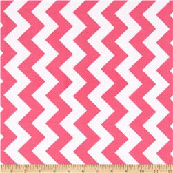 Riley Blake Laminate Medium Chevron Hot Pink Fabric