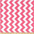 Riley Blake Laminate Medium Chevron Hot Pink