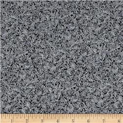 Fusions Regent Small Scroll Metallic Ebony Fabric