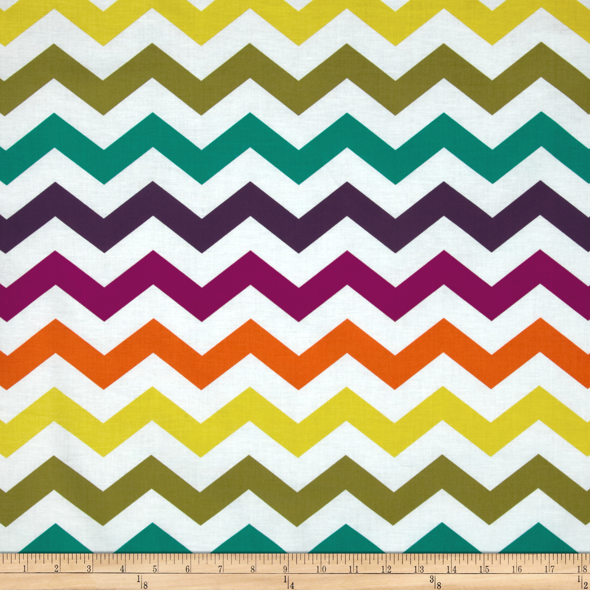 Michael Miller Norwegian Woods Too Chic Chevron Jewel