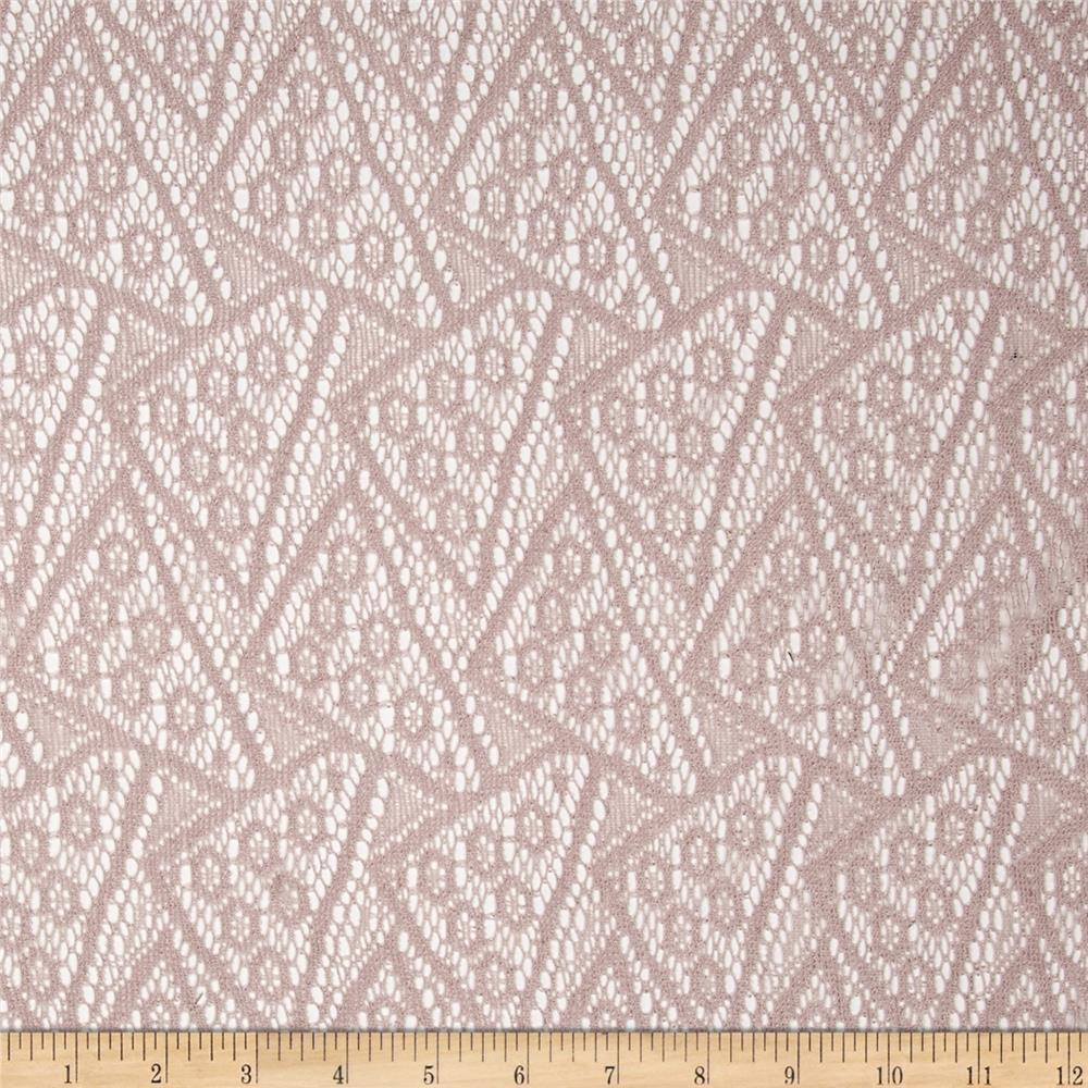 Silky Lace Geo Antique Blush