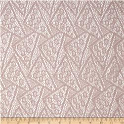 Silky Lace Geo Antique Blush Fabric