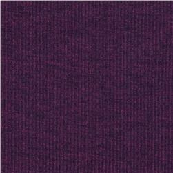 Stretch Rayon Poly Rib Knit Heather Plum