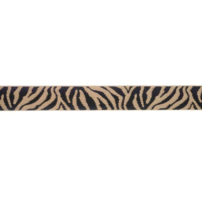 7/8'' Ribbon Tiger Stripes Tan/Black