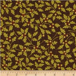 Northern Exposure Oak Leaves Olive Fabric