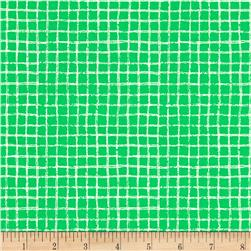 Michael Miller Tweet Me Pretty Grid Green