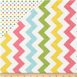 Riley Blake Double Sided Quilted Medium Chevron Girl