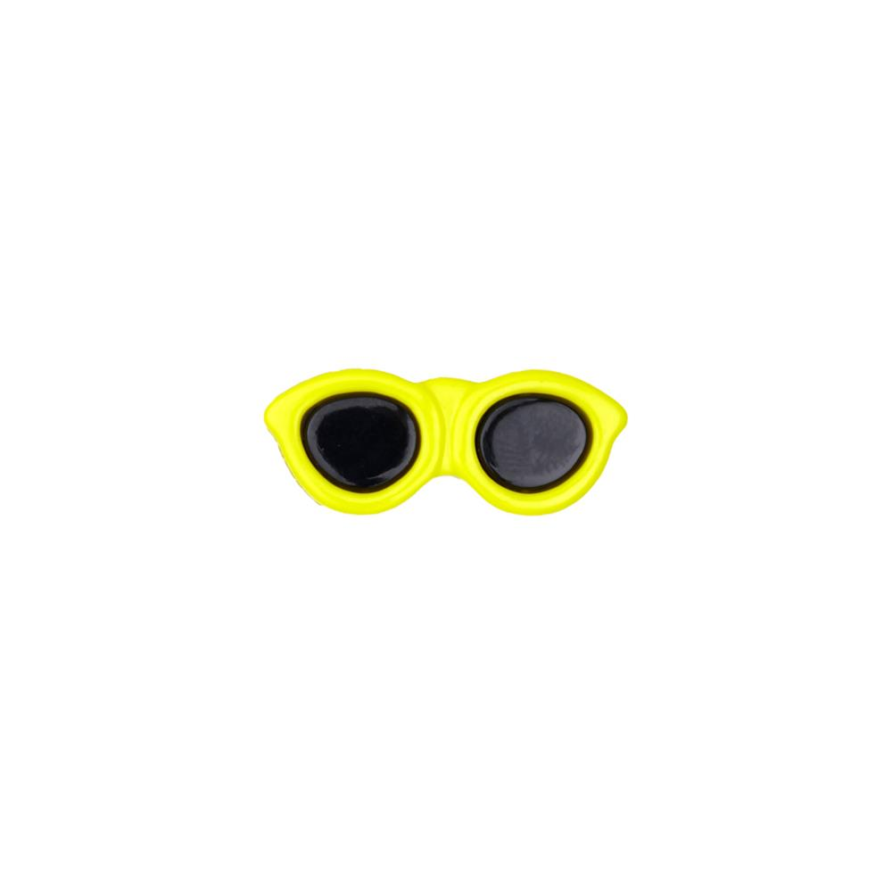 "Dill Novelty Button 1 3/16"" Sunglasses Yellow"