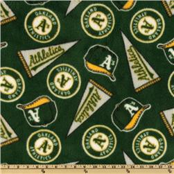 MLB Fleece Oakland Atheletics Green/Yellow/White