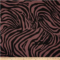 Cotton Jersey Knit Zebra Mauve/Black