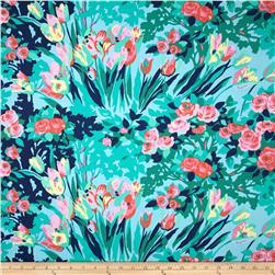 Amy Butler Violette Home Decor Sateen Meadow Blooms Sky