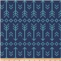 Bolt By Girl Charlee Pure Vintage Jersey Knit Stitched Arrow Navy/Turq