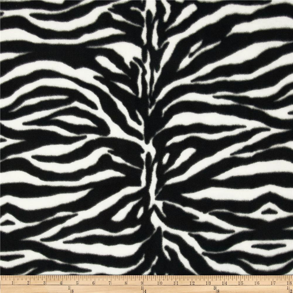 Animal Love Fleece Zebra Black/White