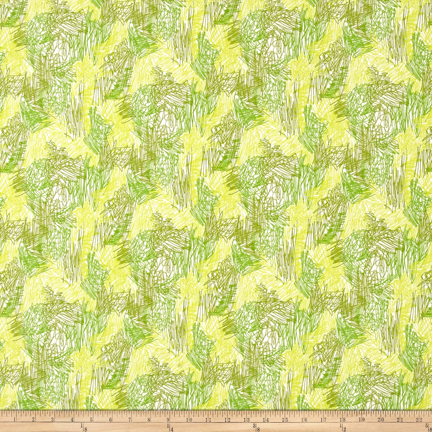 Bow Wow Wow Scritch Scratch Lime Fabric by Alexander Henry in USA