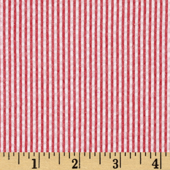 Kaufman Classic Seersucker Stripe Red/White