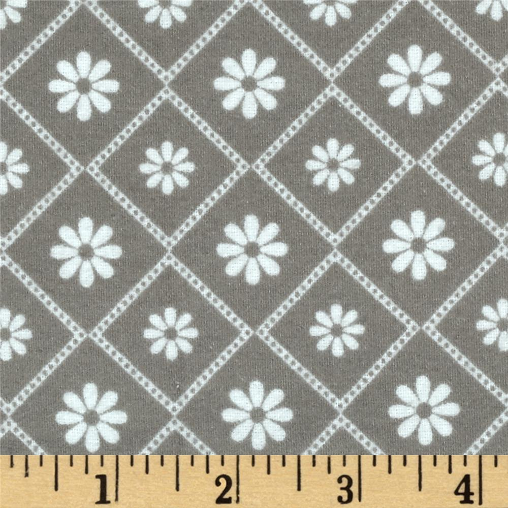 Riley Blake Parisian Flannel Diamond Gray