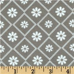 Riley Blake Parisian Flannel Diamond Grey