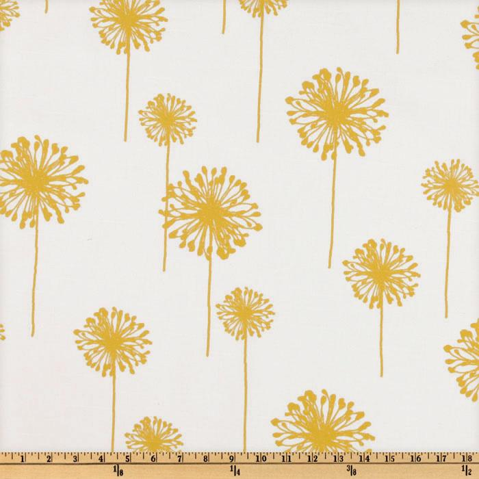 Premier Prints Dandelion Slub White/Yellow