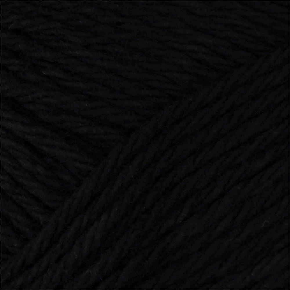 Peaches & Creme Solid Yarn (01040) Black