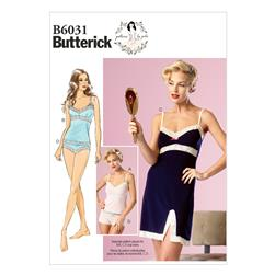 Butterick Misses' Camisole,Slip and Panties Pattern B6031 Size A50