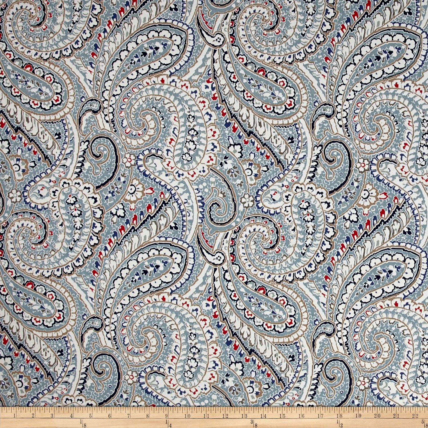 Bryant Indoor/Outdoor Nessa Paisley Arbor Fabric by Bryant in USA