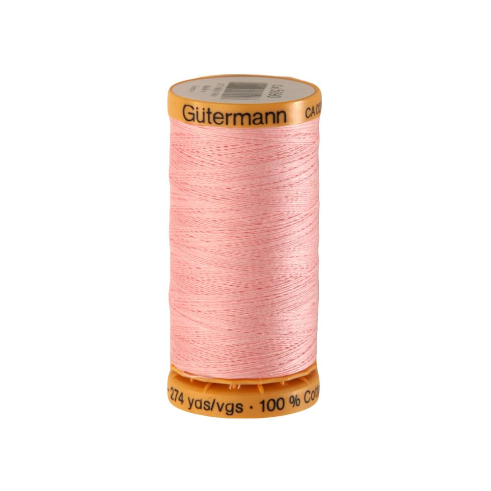 Gutermann Natural Cotton Thread 250m/273yds Pink