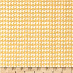 Premier Prints Houndstooth Twill Corn Yellow/White Fabric