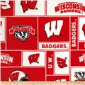 Collegiate Fleece University of Wisconsin Blocks Red/White