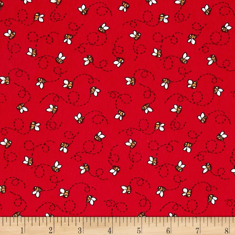 Avalana Jersey Knit Bees Red