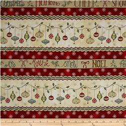 Christmas Whimsy Border Stripe Multi