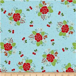 Riley Blake Sew Cherry 2 Main Aqua