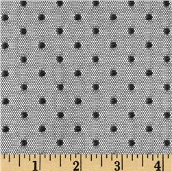 Jacquard Mini Dot Lace Black